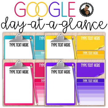 Google Drive Day at a Glance - Editable