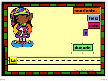 Google Drive December Scrambled Sentences Building Spanish Oraciones Revueltas