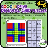 Google Drive Decimal Grid Puzzle Task Cards - Engaging! A