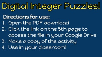 Google Drive Digital Integer Puzzles
