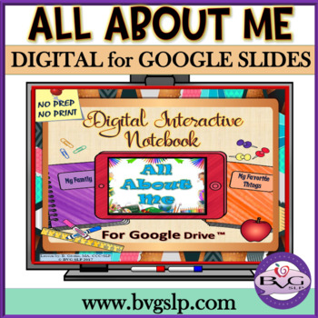 Google Drive Digital Interactive Notebook All About Me