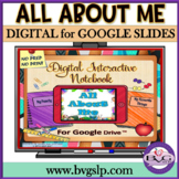 All About Me Digital Interactive Notebook for Google Drive  NO PRINT Teletherapy
