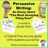 Google Drive Digital Persuasive Writing Practice: The Most