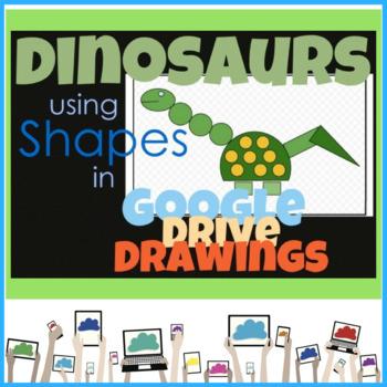 Google Drive Creating Dinosaurs using Google Drawings