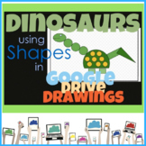 Google Drive Create a Dinosaur using Shapes in Google Drawings