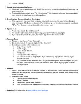 Google Drive / Docs Overview