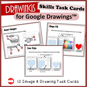 Drawings Task Cards - for Google Drawings™