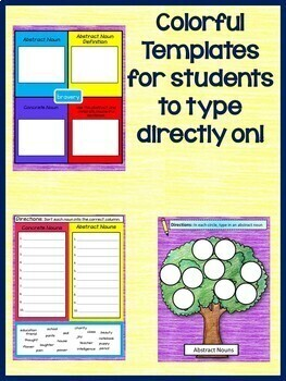 Google Drive ELA: Abstract Nouns Interactive Notebook
