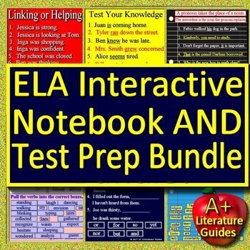Google Drive Paperless Activities Digital Notebooks and Games for ELA Bundle