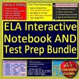 Language Arts Interactive Notebook Bundle - Google Ready + ELA Test Prep Games!