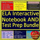 Language Arts Interactive Notebook Bundle - Google Ready + ELA Test Prep Games!