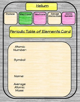 Earth Chemistry Interactive Notebook Google Drive Activities