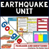 Earthquake Unit Interactive Google Activities with Passages and Questions