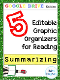Google Drive Edition!  Graphic Organizers for Summarizing!