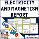 Electricity and Magnetism Report Interactive Notebook Google Drive Activities