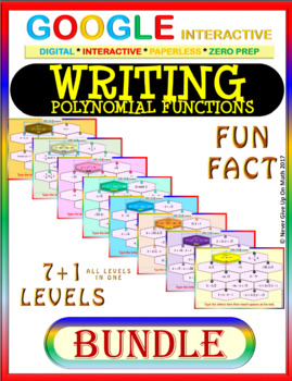 Google Drive FUN FACT BUNDLE: Writing Polynomial Functions (8 Levels) (50%+ OFF)
