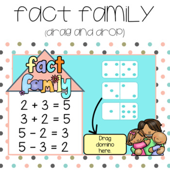 Fact Family Dominos ~ for Google Drive &  Google Classroom