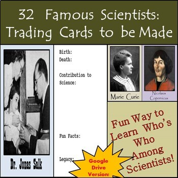 Google Drive - Famous Scientists in History Biography Card