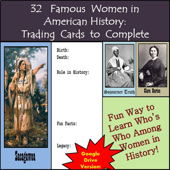 Google Drive - Famous Women in American History Biography Cards to Create