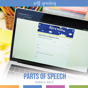 Google Drive Grammar Lesson: Eight Parts of Speech Self-Grading Grammar Activity