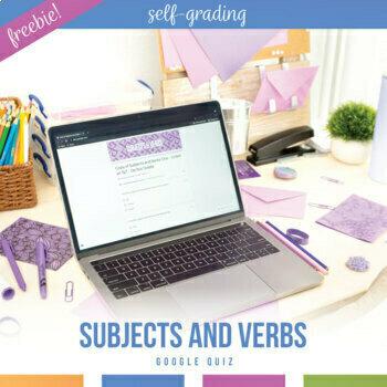 Google Drive Grammar Lesson: Subjects and Verbs, Self-Grading Grammar Activity