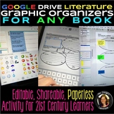 Distance Learning Google Drive Graphic Organizers: Reading