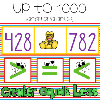 Greater Than, Less Than, or Equal to  ~ For Google Drive & Google Classroom