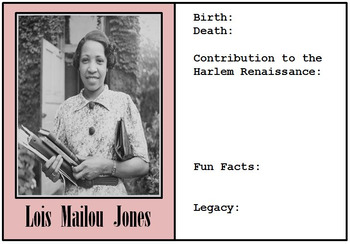 Google Drive - Harlem Renaissance Biography Cards - Black History Month