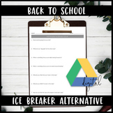 Google Drive High School Back to School 1st Day Activity I