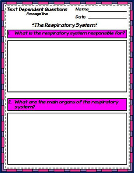 Human Body Systems Unit Interactive Notebook Google Drive Activities