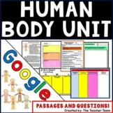 Human Body Systems Unit   Passages and Questions for Google Classroom