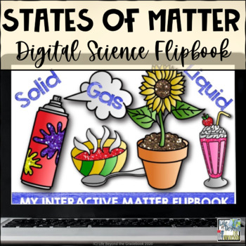 Interactive Flip Book for Google Drive - States of Matter - 5th Grade Science
