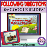 Distance Learning Following Directions Digital for Google