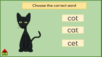 Google Drive Interactive Phonics Activity and Quiz: Spelling Short A