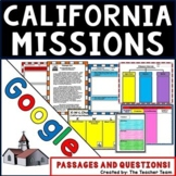 California Missions Unit   Passages and Questions   Google Classroom Activities