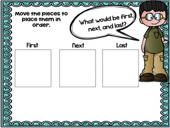 Interactive Sequencing First, Next, Last Pictures