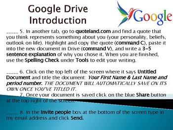 Google Drive Intro. Activity