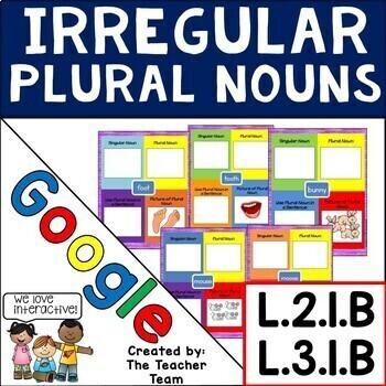 Irregular Plural Nouns Interactive Notebook Google Drive Activities