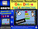 Google Drive January Scrambled Sentences Building Spanish Oraciones Revueltas