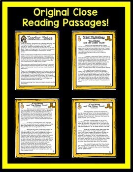 King Midas Greek Mythology Google Activities with Passages ~ Questions