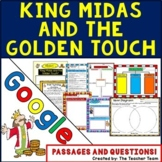King Midas | Passages and Questions | Google Classroom Activities