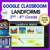 Google Classroom Activities LANDFORMS Digital Task Cards 2nd & 3rd grade