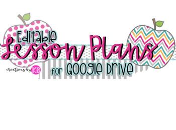 Google Drive Lesson Plan Template