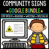 Google Drive - Life Skills - Community Safety Signs - Special Education - Bundle