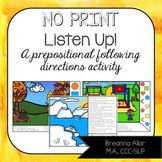 Google Drive™ Listen Up! A Following Directions Activity