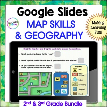 GOOGLE CLASSROOM ACTIVITIES MAP SKILLS & GEOGRAPHY BUNDLE