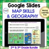 GOOGLE CLASSROOM ACTIVITIES MAP SKILLS & GEOGRAPHY DIGITAL TASK CARDS BUNDLE