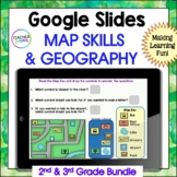 Google Classroom Activities MAP SKILLS & GEOGRAPHY & DIGITAL BOOM CARDS BONUS