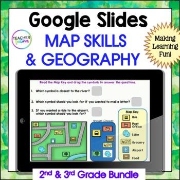 Google Classroom Social Studies | MAP SKILLS | GEOGRAPHY | BOOM CARDS