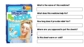 Google Drive - Medicine Label - Special Education - Life Skills - ELA - Unit4